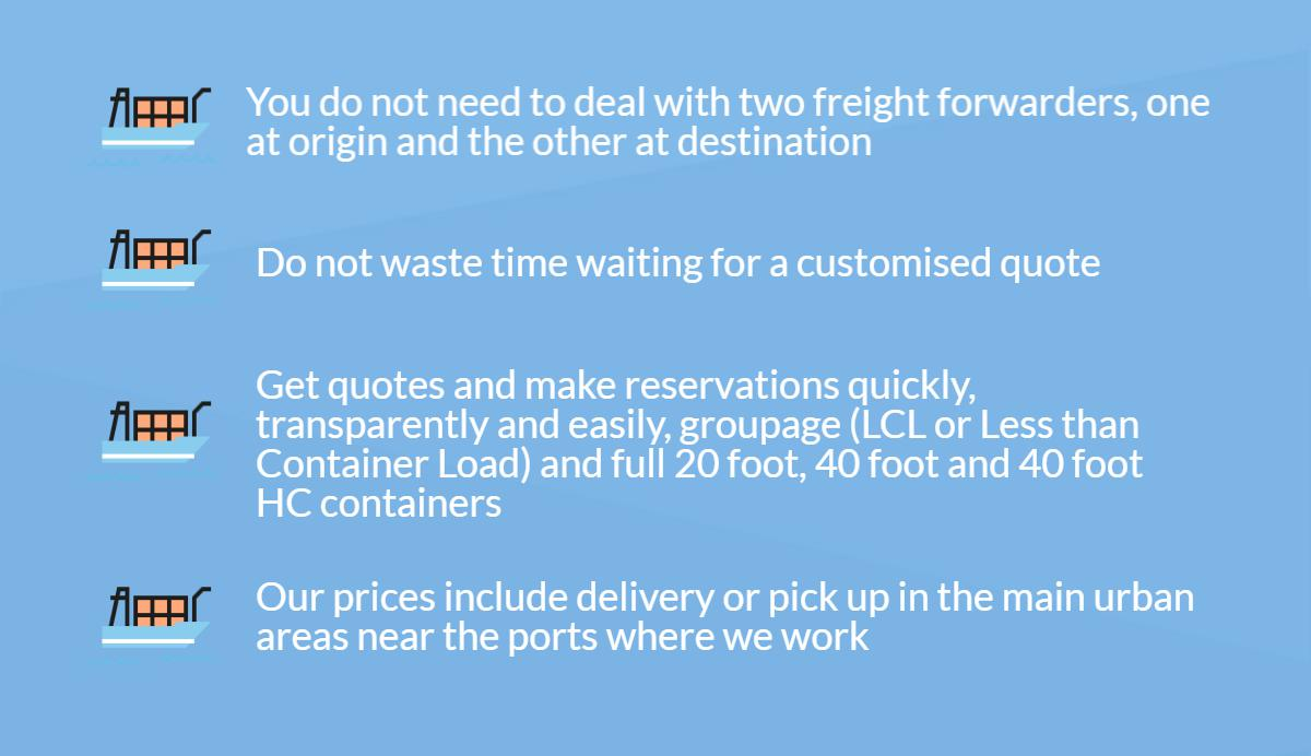 Benefits of our Door-to-Door service from/to United Arab Emirates