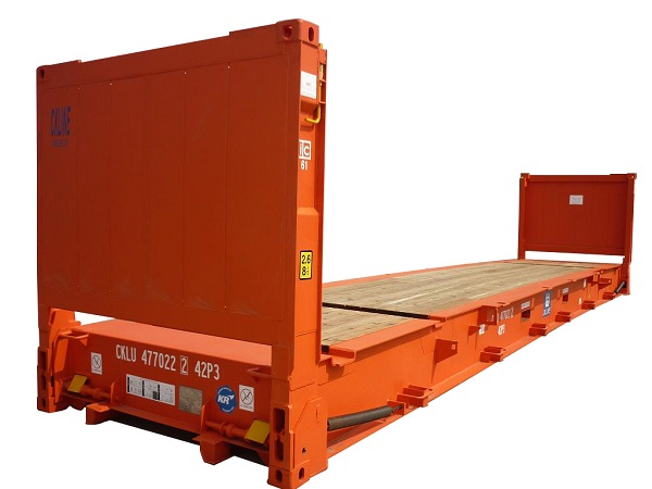 40 ft flat rack shipping container dimensions