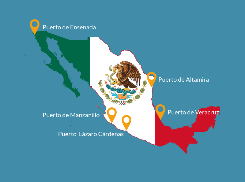 Top 5 ports in Mexico