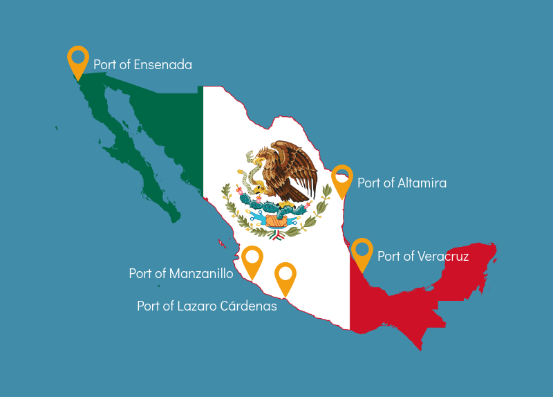 Altamira Mexico Map.Top 5 Ports In Mexico Icontainers