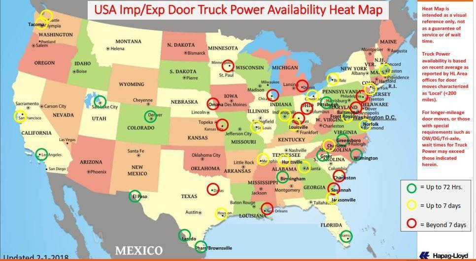 US trucking shortage - iContainers