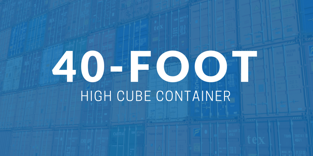 40-foot high cube container
