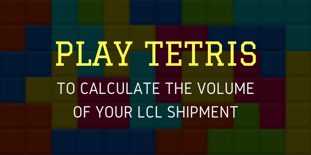 Playing Tetris to calculate the volume of an LCL (groupage) shipment