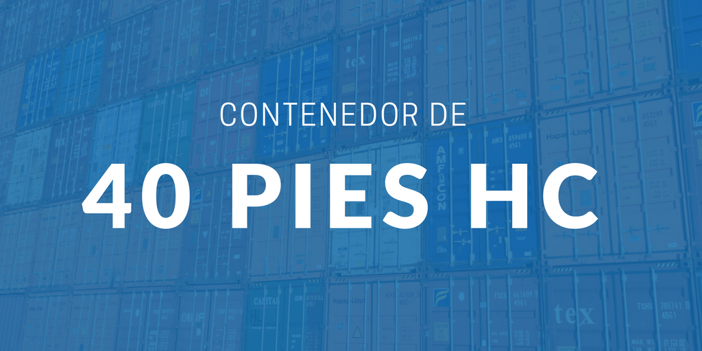 Contenedor de 40 pies High Cube | iContainers