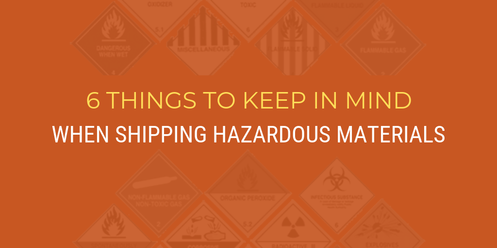 Hazardous materials transportation: 6 things to keep in mind