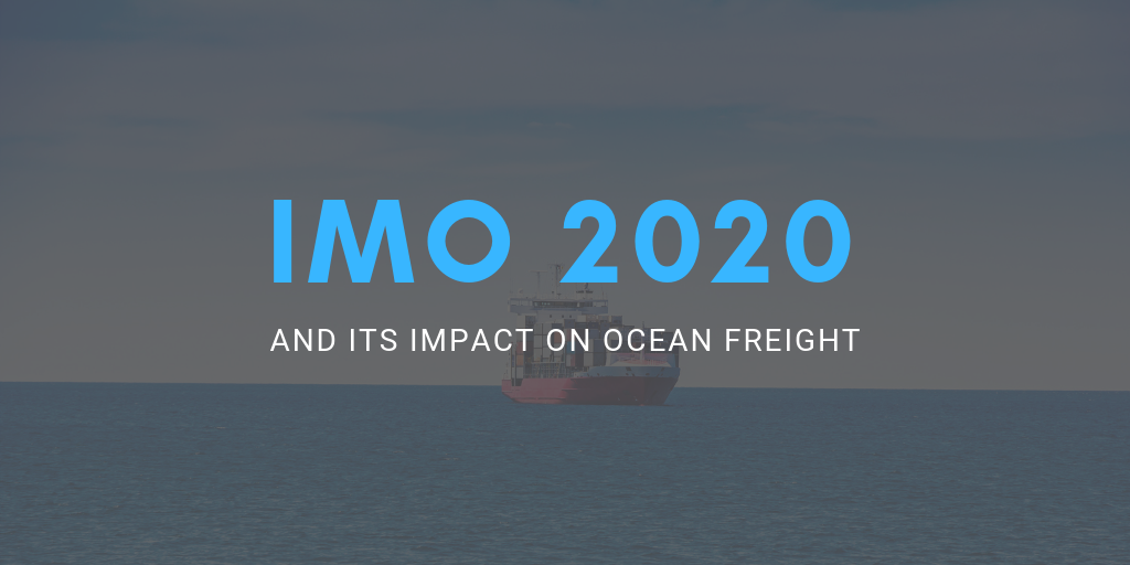 IMO 2020 regulation and its impact on the shipping container trade