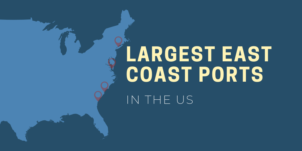 Largest east coast ports in the US