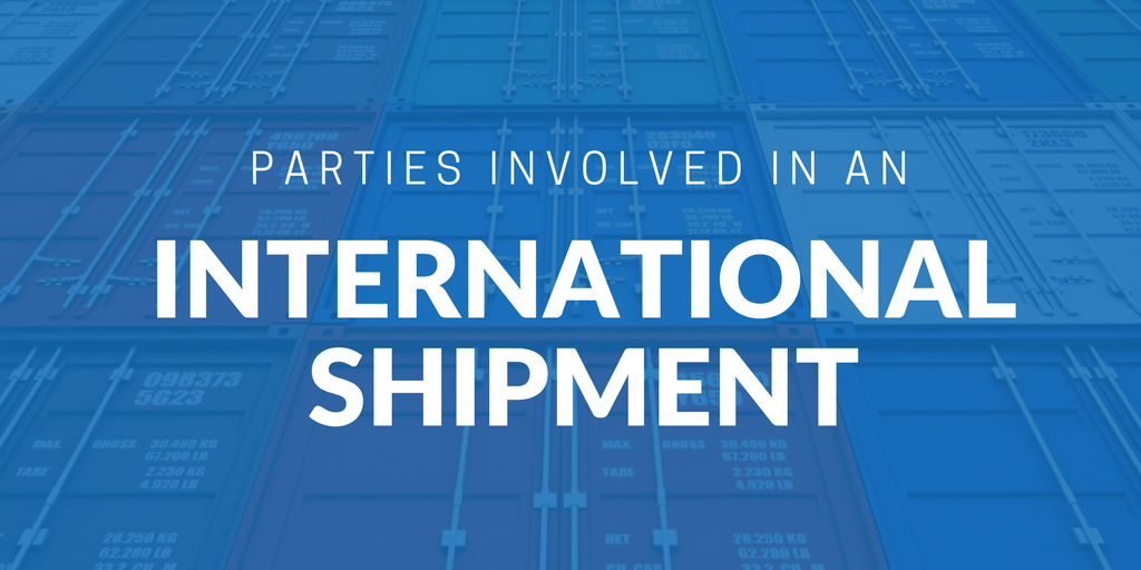 Parties involved in an international shipment