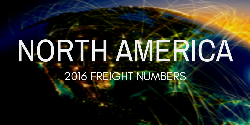 North America freight numbers in 2016