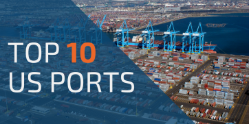The largest and busiest ports in the US