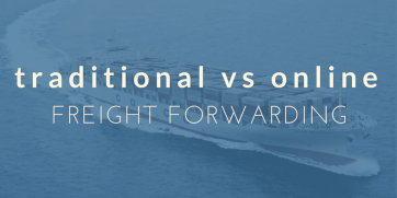 Differences between a traditional and online freight forwarder