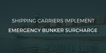 Shipping carriers implement Emergency Bunker Surcharge (EBS)
