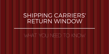 Shipping carriers' return window