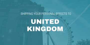 Shipping Your Personal Effects to UK