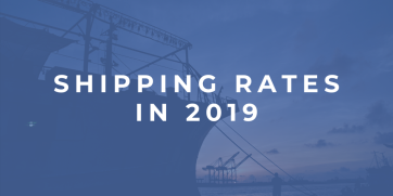 Shipping rates in 2019