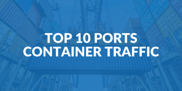 Top 10 Ports in terms of Container Traffic