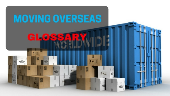 Moving overseas glossary