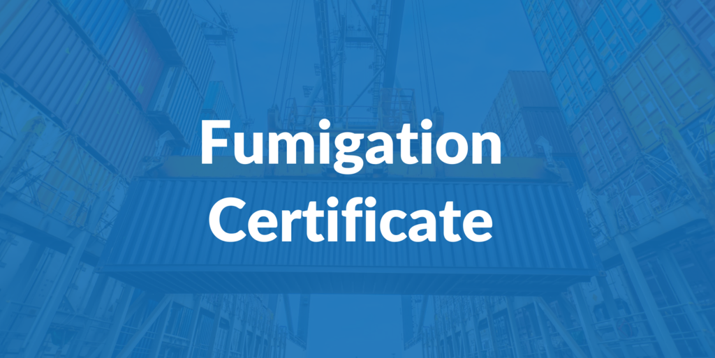 All about the Fumigation Certificate