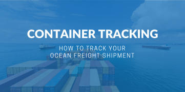 Container tracking - How to track your ocean freight shipment