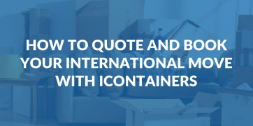 How to quote and book your international move with iContainers
