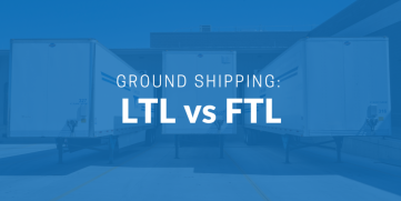 LTL vs FTL ground shipping