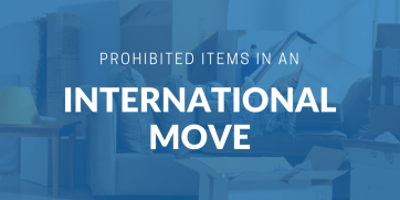 Prohibited items in an international move