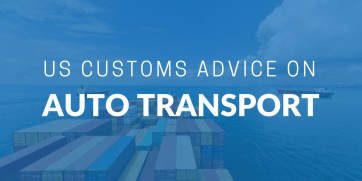 US Customs advice for cars