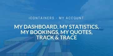 Your iContainers account and personalized shipping dashboard